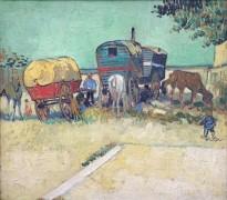 Стоянка цыганского каравана (Encampment of Gypsies with Caravans), 1888 - Гог, Винсент ван