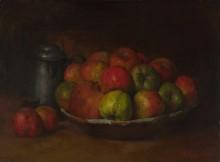 Натюрморт с яблоками и гранатом - Курбе, Гюстав