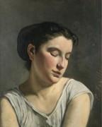 Девушка со склоненной головой, 1868 - Базиль, Фредерик Жан