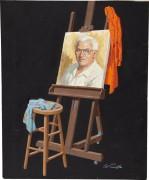 Мольберт с портретом - Сарноф, Артур