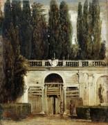 Вид на сад виллы Медичи в Риме - Веласкес, Диего