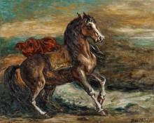 Лошадь с красной попоной - Кирико, Джорджо де