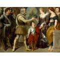 Генрих IV доверяет регенство Марии Медичи (по картине Рубенса) - Делакруа, Эжен