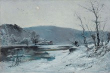 На Луаре, зима, 1893 - Нуаро, Эмиль