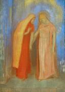 Встреча Марии и Елизаветы - Редон, Одилон