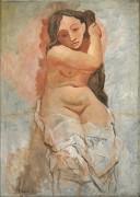 Женщина, заплетающая свои волосы - Пикассо, Пабло