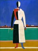 Женщина с граблями - Малевич, Казимир