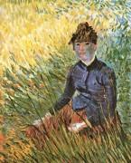 Женщина сидящая в траве (Woman Seated on the Grass), 1887 - Гог, Винсент ван