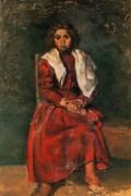 Молодая девушка с босыми  ногами, 1895 - Пикассо, Пабло