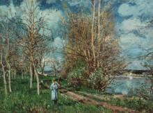 Маленький луг весной - Сислей, Альфред