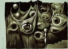 Глаза и лестница - Дали, Сальвадор