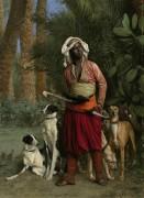 Псарь с гончими - Жером, Жан-Леон