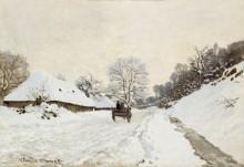 Карета на заснеженной дороге в Онфлер,1865 - Моне, Клод