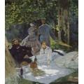 Завтрак на траве, центральная панель, 1865 - Моне, Клод