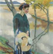 Девушка с соломенной шляпой - Какьюл, Эдвард