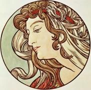 Голова женщины - Муха, Альфонс