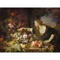 Женщина с фруктами - Брейгель, Абрахам