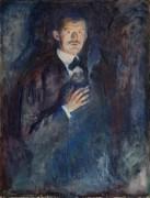 Автопортрет с сигаретой - Мунк, Эдвард