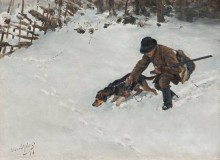 Охотник с гончей - Лильефорс, Бруно