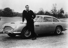Шон Коннери с Aston Martin (Остин Мартин) агента 007