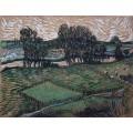 Пейзаж с мостом через Уаз (Landscape with Bridge across the Oise), 1890 - Гог, Винсент ван
