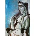 Обнаженная женщина в кресле, 1964 - Пикассо, Пабло