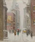 Зимний день по Нассау-стрит -  Уиггинс, Гай Кэрлтон