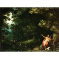 Лесной пейзаж с Иоанном Крестителем - Брейгель, Ян (Старший)