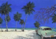 Автомобиль на пляже - Борелли, Гвидо (20 век)