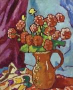 Красные цветы в кувшине - Вальта, Луи