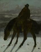 Охотник верхом на лошади - Курбе, Гюстав