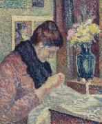 Женщина за шитьем, 1893 - Люс, Максимильен