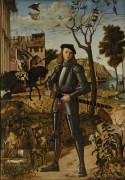 Молодой рыцарь на фоне пейзажа - Карпаччо, Витторе