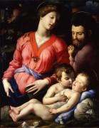 Святое Семейство с маленьким Иоанном Крестителем - Бронзино, Аньоло