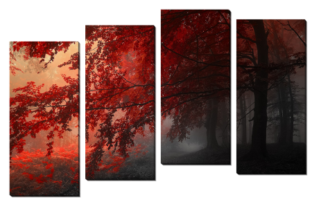 Осеннее красное дерево