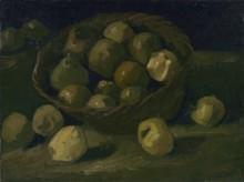 Натюрморт с корзиной яблок (Still Life with Basket of Apples), 1885 - Гог, Винсент ван