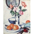 Натюрморт с розами и апельсинами - Пепло, Самуэль Джон