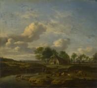 Пейзаж с фермой - Велде, Адриан ван де