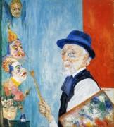 Автопортрет с масками, 1936 - Энсор, Джеймс