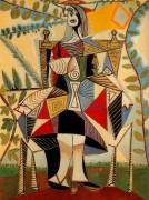 Женщина, сидящая в саду, 1938 - Пикассо, Пабло
