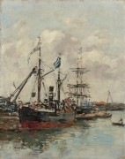 Трувиль, порт, 1894 - Буден, Эжен