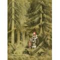 В лес по ягоду-землянику. 1882. Литография - Левитан, Исаак Ильич