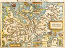 Карта Европы 1550