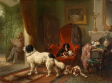 Интерьер перголы и комнаты с собаками - Версхюр, Ваутер Старший