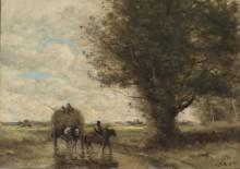 Воз сена - Коро, Жан-Батист Камиль