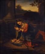 Мадонна, поклоняющаяся Младенцу Христу - Корреджо, Антонио да