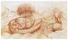 Аллегорический рисунок. Волк и Орёл - Винчи, Леонардо да