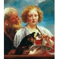 Женщина с попугаем - Йорданс, Якоб
