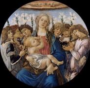 Мадонна с Младенцем в окружении поющих ангелов - Боттичелли, Сандро