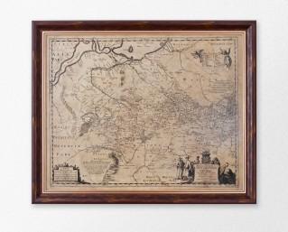 Карта Украины. Ле Вассер де Боплан  Гийом.